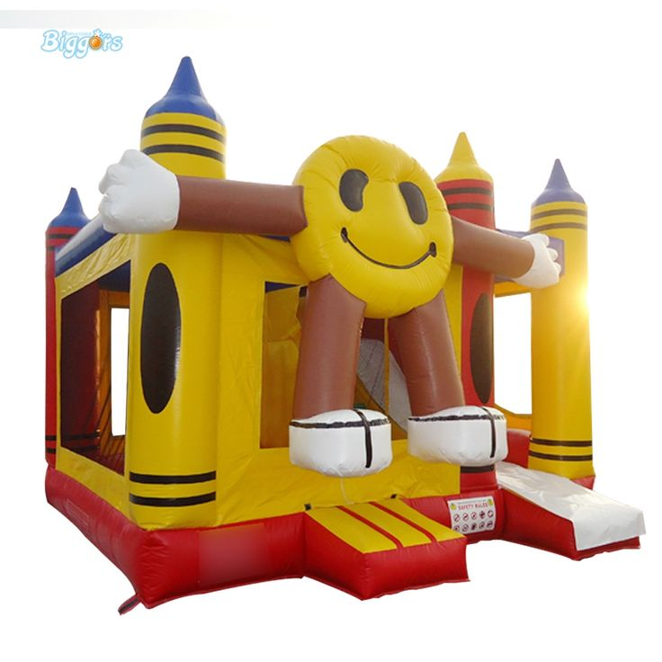 1530.45$  Watch more here  - Smile Face Inflatable Trampoline Bouncy Castle Playground for Sale