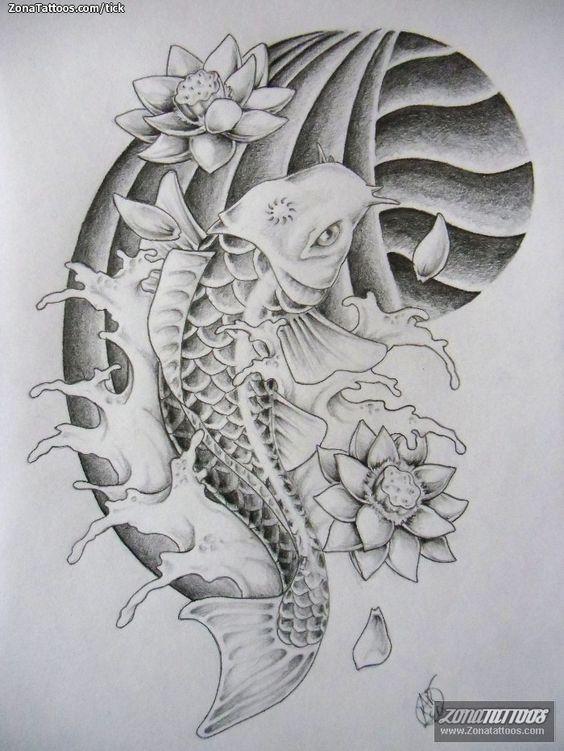 17 mejores ideas sobre tatuaje pez koi en pinterest for Pez koi pequeno