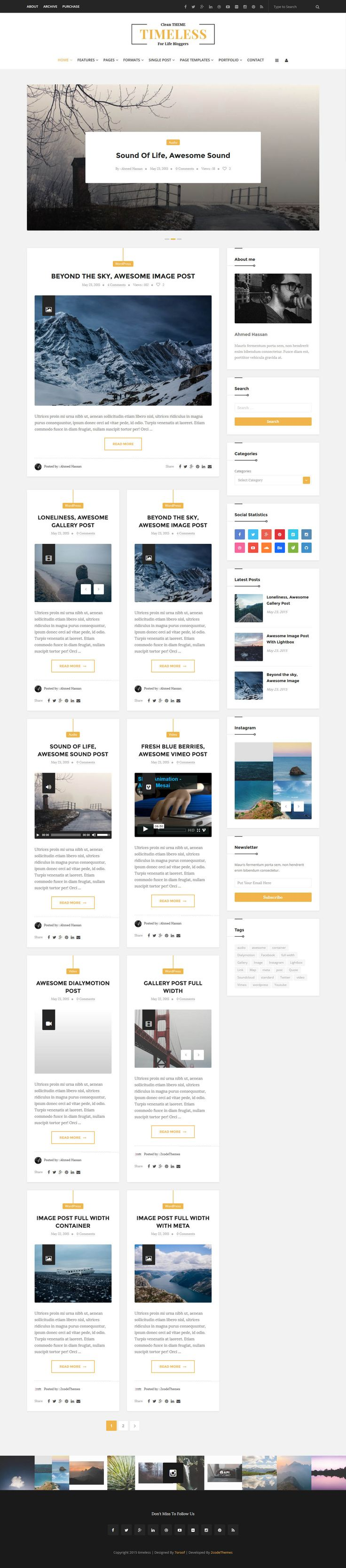 TimeLess – Clean Personal WordPress Blog Theme #website Live Preview & Download: http://themeforest.net/item/timeless-clean-personal-wordpress-blog-theme/11620699?ref=ksioks