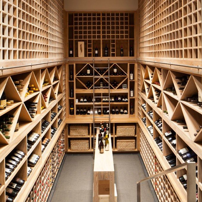The wine cellar in a Newport Coast, California, home