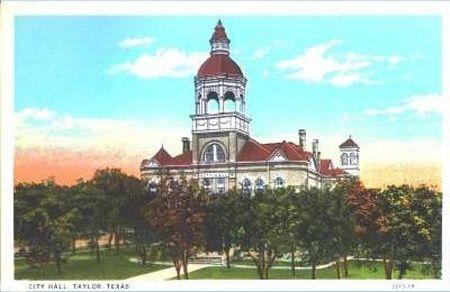 taylor texas train depots 1940 | City Hall - 1929