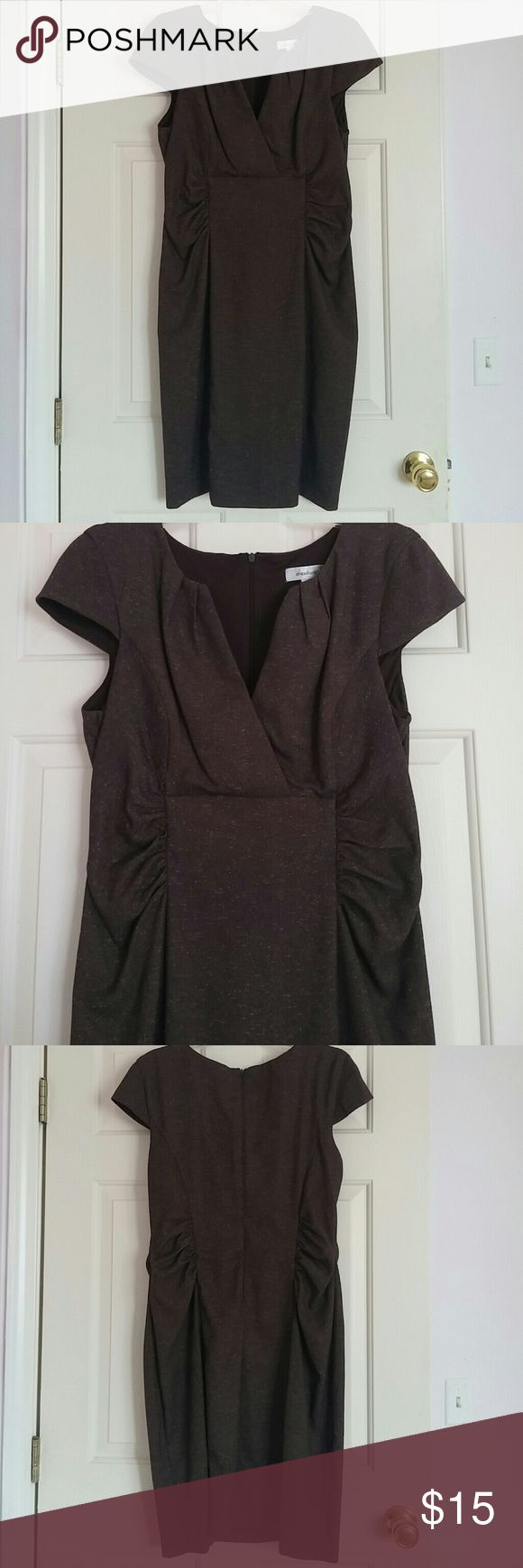 Brown work dress Very cute dress for work. Size says 16 but honestly fits like a 14. Dress Barn Dresses