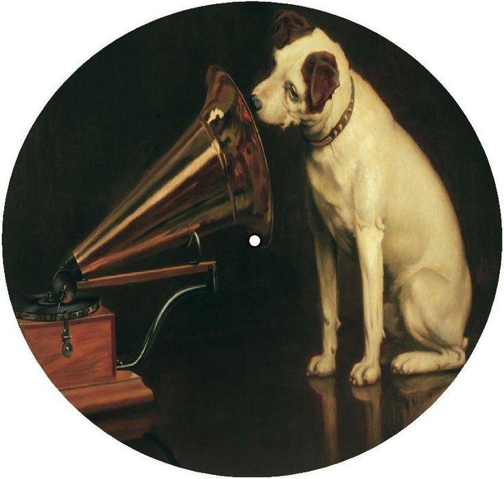 His Masters Voice Hmv Record Turntable Mat Audiophile Felt