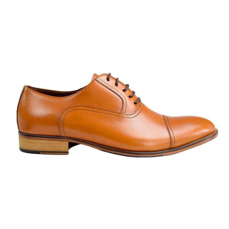 Pantofi din piele maro deschis