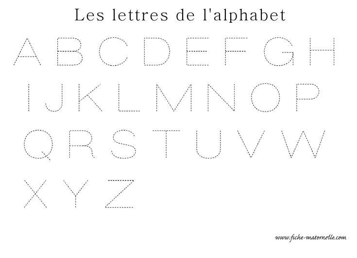 Apprendre a ecrire les lettres de l alphabet en ecriture - L alphabet en francais a imprimer ...