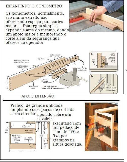 Ah! E se falando em madeira...: + Dicas: serra circular de mesa