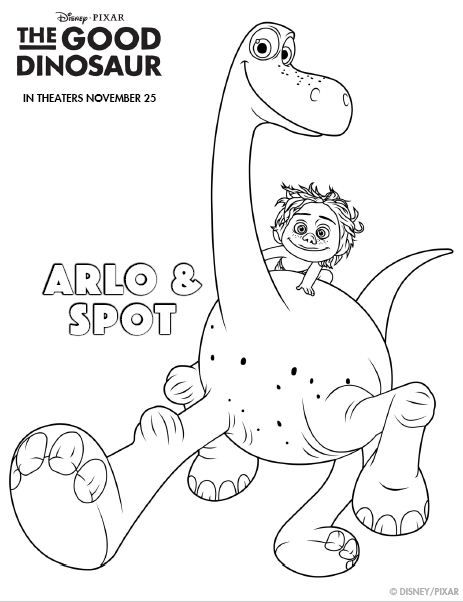 9 best Disney The Good Dinosaur coloring pages Disney images on ...