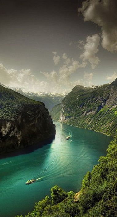 Geiranger Fjord ~ Norway • photo:  Faisal! on Flickr ☛ http://www.flickr.com/photos/faisals/3796818553/lightbox/