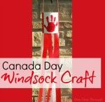 Canada Day National Flag Windsock Craft