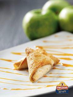 #missionwraps #wraps #food #inspiration #meal #sweet #dessert #apple #toffi www.missionwraps.es