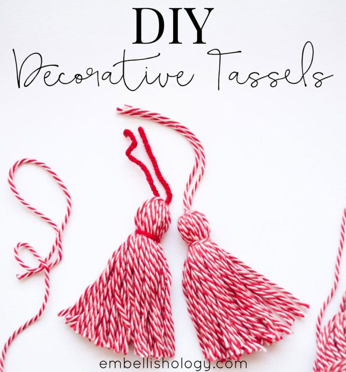 Easy yarn tassels you can make in minutes!