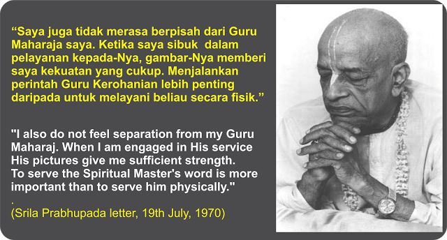 Sanatana Dharma Indonesia: Menjalankan perintah Guru Kerohanian lebih penting...