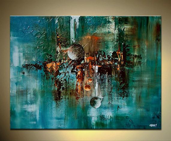 Canvas Art – Stretched, Embellished & Ready-to-Hang Print – The Planets Maker – Art by Osnat