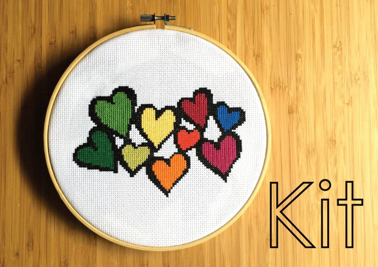 Want a wedding present that stands out? Try our heart cluster cross stitch kit.