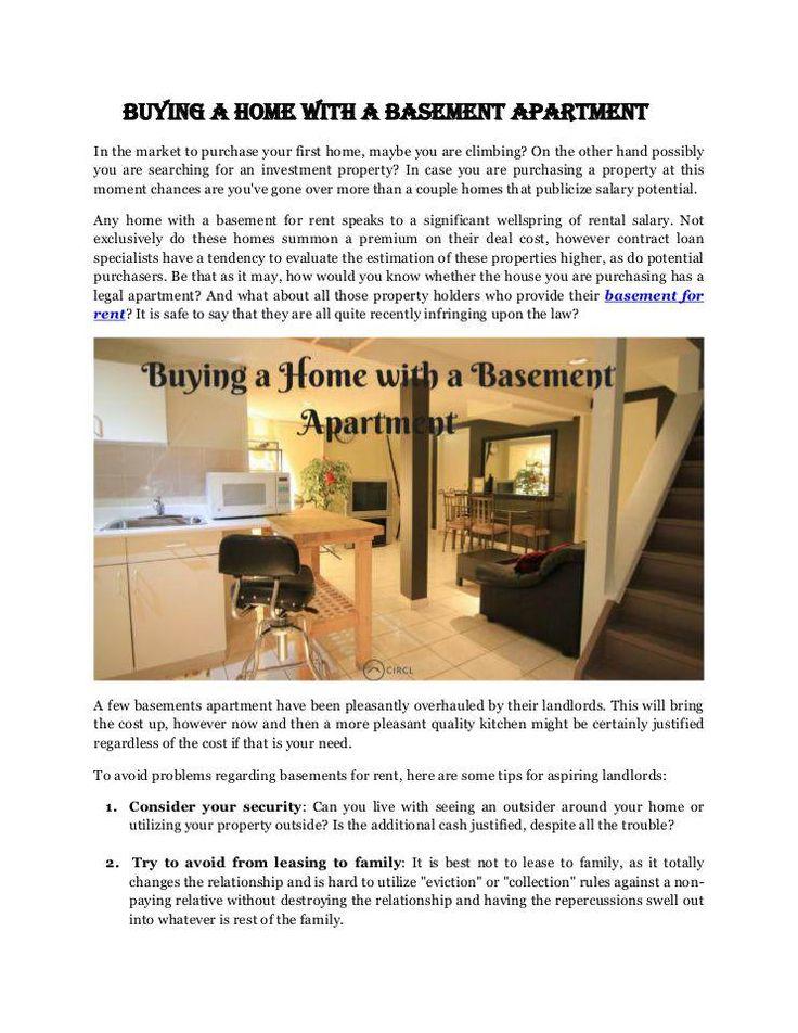 Best Basement For Rent Images On   Basement Basement