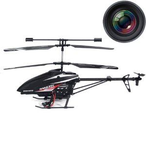 """Haktoys® HAK635C 2.4GHz 17"""" Video & Photo Camera 3.5CH Helicopter, Gyroscope, Rechargeable, Ready to Fly, and with LED Lights (Micro SD Card Included)   Ready to fly right out of box, indoor/outdoor flight Slow-Fast adjustable speed modes, bright LED light Optimum charge time: 2 hours, flight time: 7-9 minutes, flight range: Up to 300 feet Video recording and image capturing capability, 2.4GHz frequency for better control  Sale:$79.99  You Save:$40.00 (33%)"""