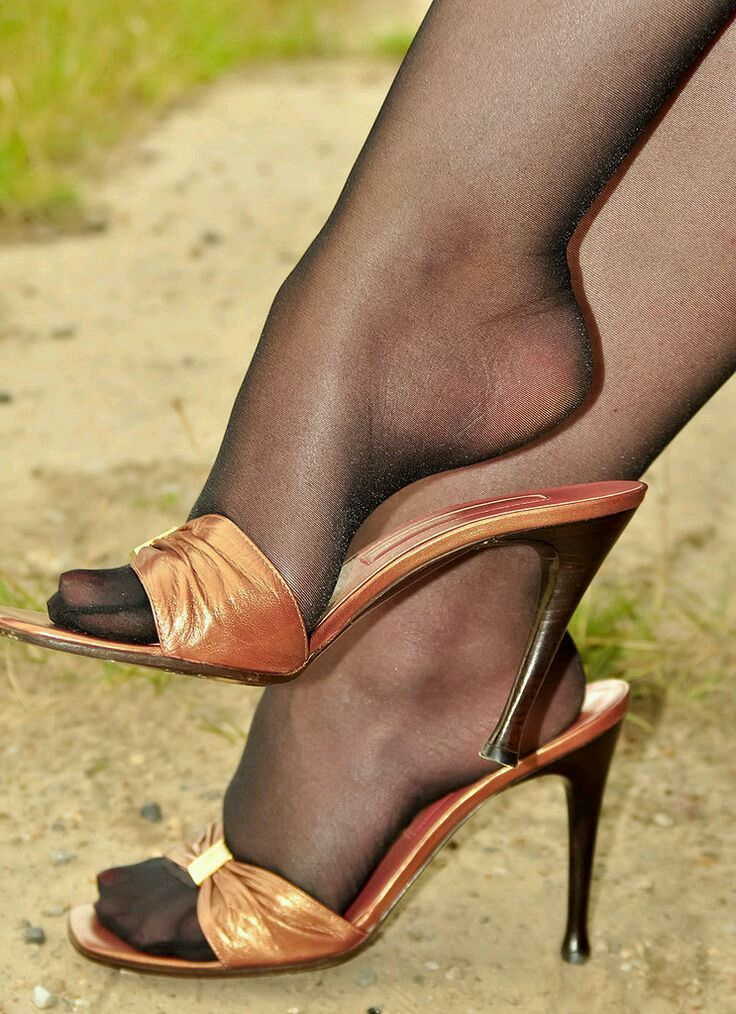 Feet in pantyhose