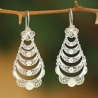 Sterling silver flower earrings, 'Catacos Rose' from @NOVICA, They help #artisans succeed worldwide.