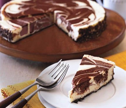 Sinless Chocolate Desserts for a Romantic Night In: Chocolate Marble Cheesecake