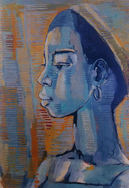 Woman completed by Gerard Sekoto in 1968