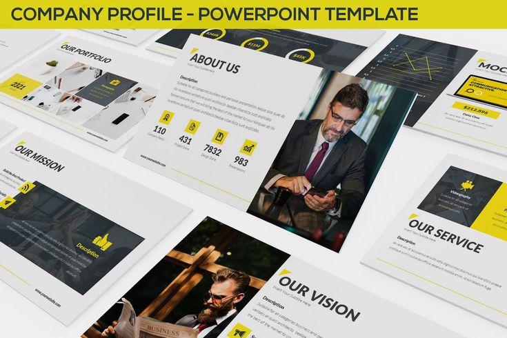 Company Profile Powerpoint Template. 30 Unique Slides