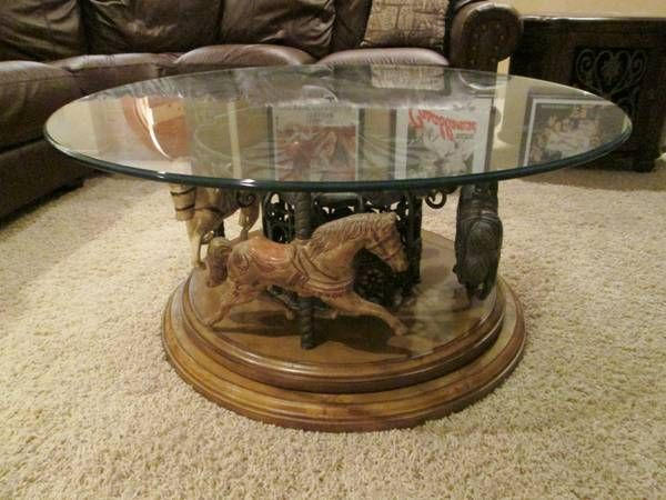 Captivating Carousel Coffee Table   Lovely