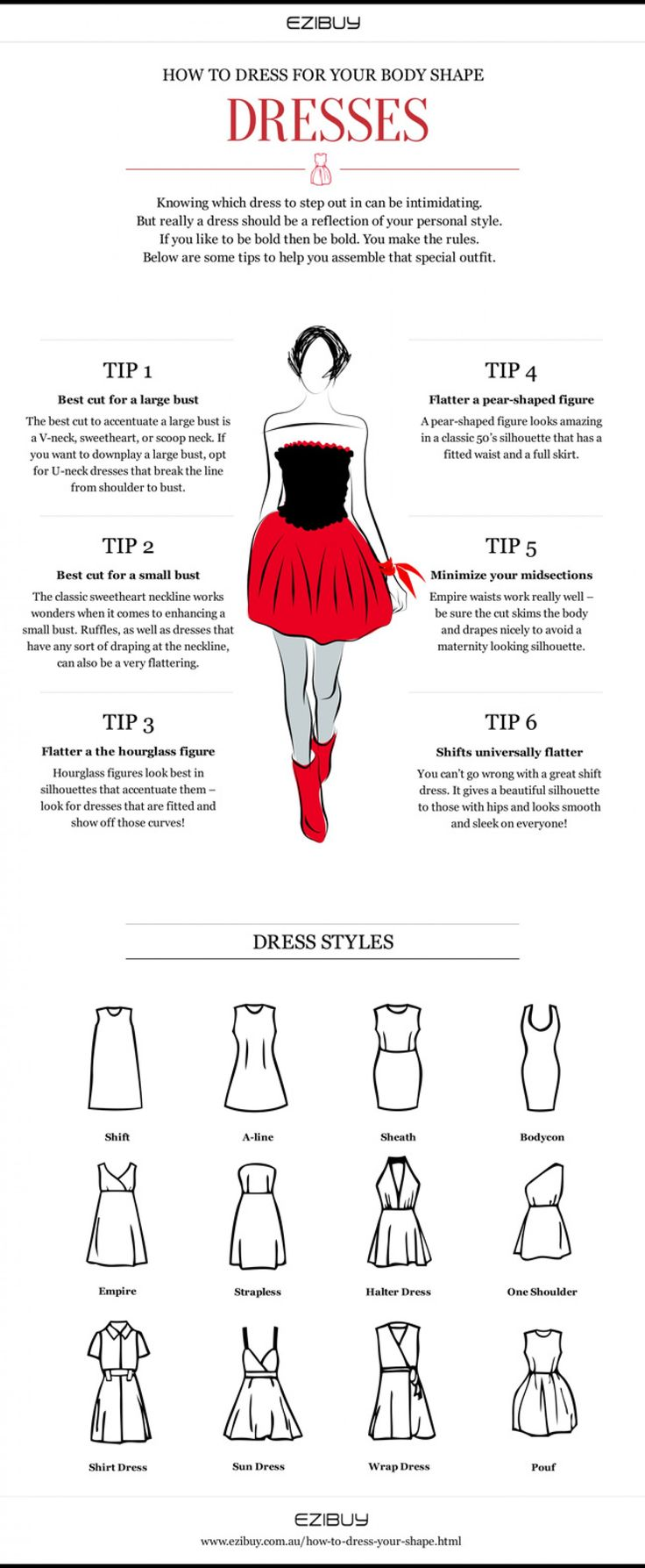 Life As We Know It Muslimah Clothing Fashion Tips: 6 Tips On How To Dress For Your Body Shape Infographic