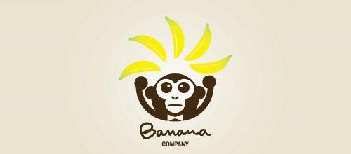 banana company logo designs