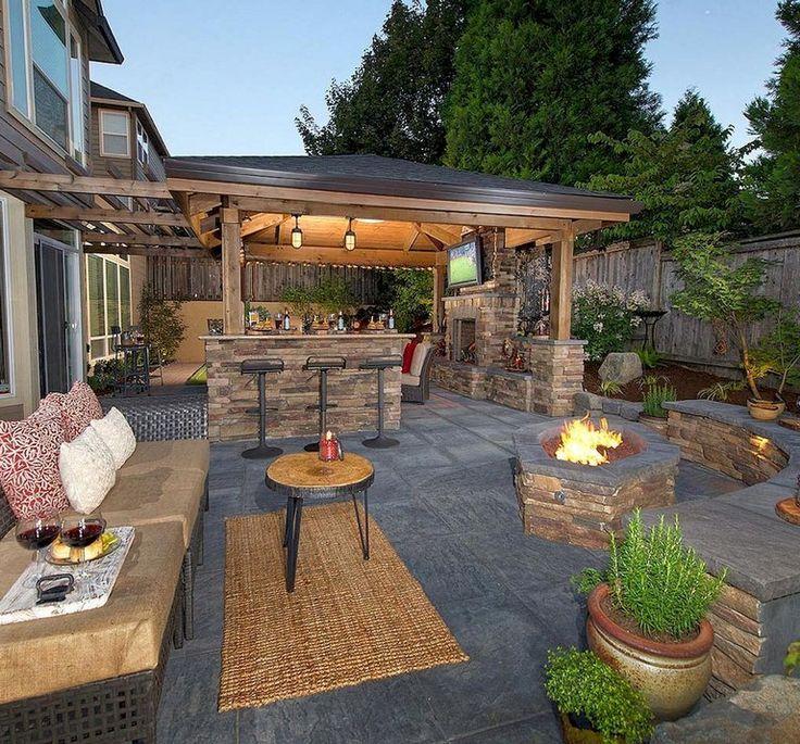 83+ Atemberaubende, stilvolle Ideen für Wohnzimmer im Freien, um Ihren Wohnraum zu erweitern – Rumahouse