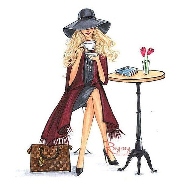Fashion Poster,Fashion Print,Fashion Sketch,Fashion wall art,Fashion... ❤ liked on Polyvore featuring home, home decor and wall art