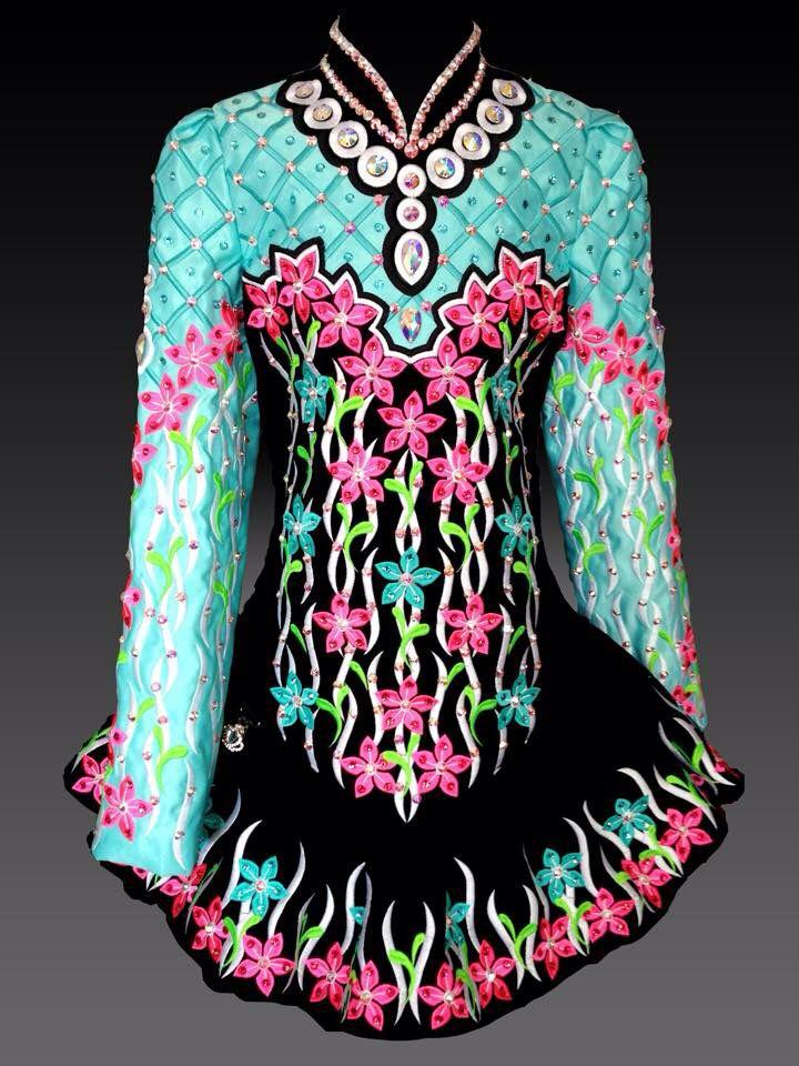 Kerry Designs Irish Dance Solo Dress Costume ~ Platinum Line ~