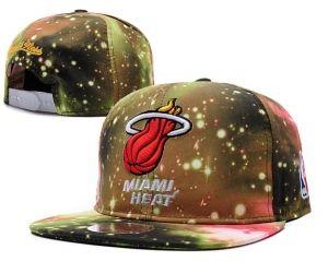 Casquette NBA Miami Heat Galaxy Snapback Jaune : Casquette Pas Cher