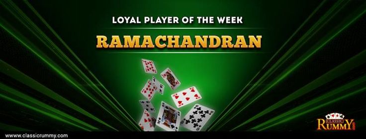 Classic Rummy Loyal Player of the week!  for more details : https://www.classicrummy.com/social-rummy-games-online?link_name=CR-12