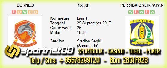 Prediksi Skor Bola Borneo vs Persiba Balikpapan 25 Sep 2017 Liga 1 di Stadion Segiri (Samarinda) pada hari Senin jam 18:30