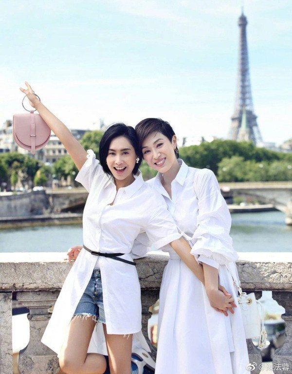 c4c92243f97 Hoa hậu Hong Kong mừng sinh nhật Hoàng Dung Chu Nhân Trần Pháp Dung chia sẻ