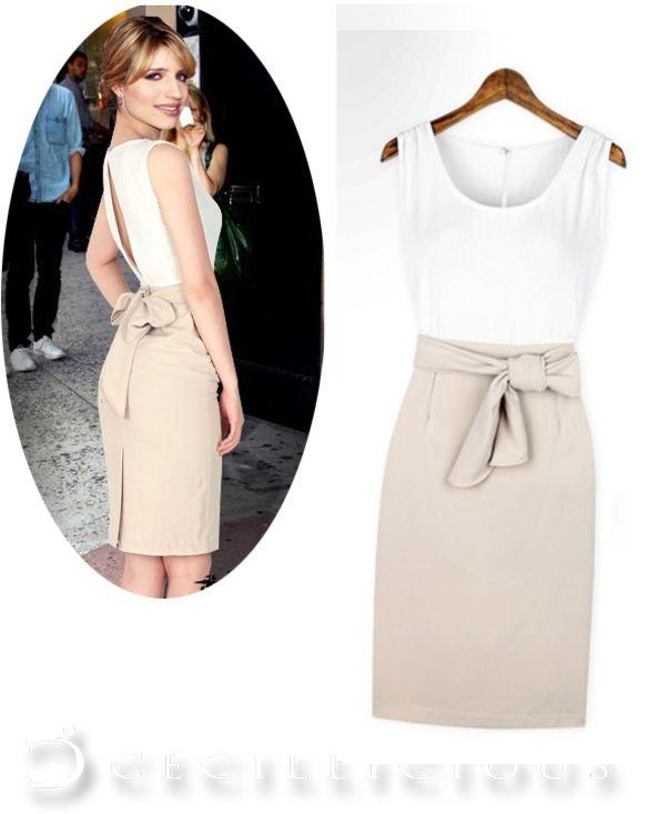 Emmalee White Beige Dress