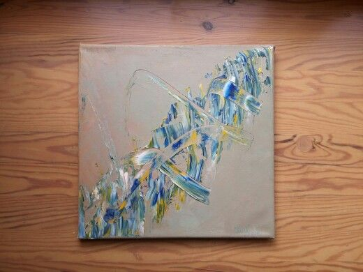Abstract 2. By Ieva Krivma. Oil. 30x30 cm. Canvas