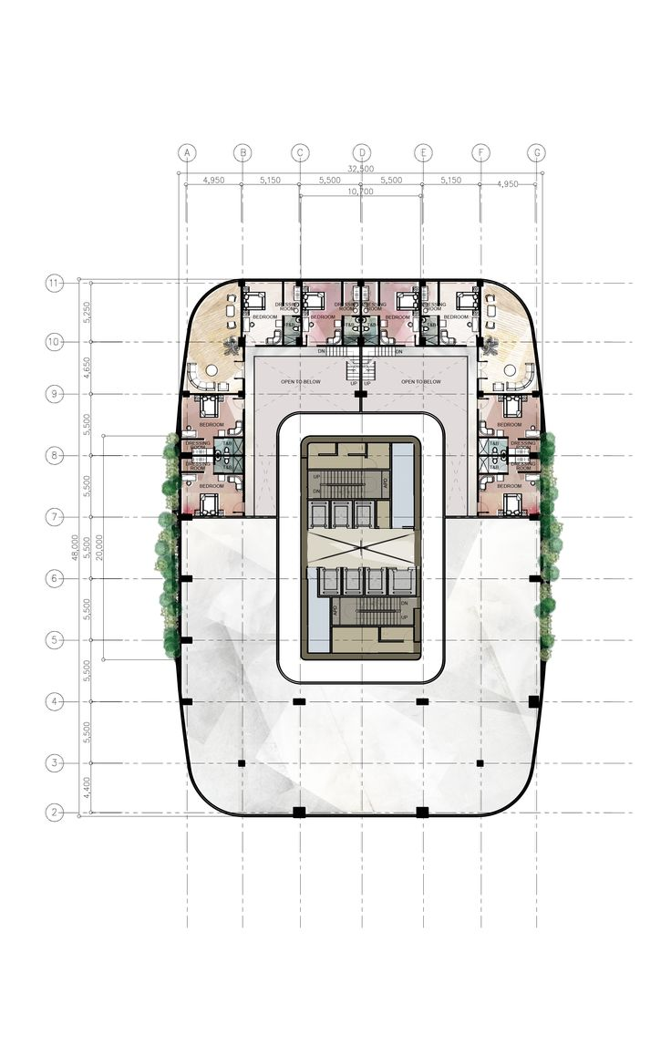 47th floor penthouse mezzanine design 8 proposed for Corporate office design plan
