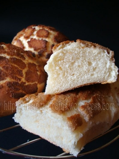 Dutch Crunch bread ... the most amazing bread I have ever eaten (sadly only found in San Fran)