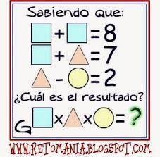 Resultado de imagen para retos matematicos con respuesta para primaria