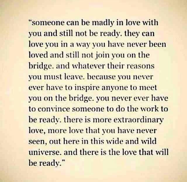There is the love that will be ready..