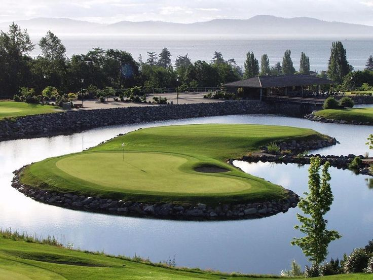 Our #GolfCourseOfTheDay is The Ridge Course at Cordova Bay Golf, in Victoria, British Columbia. It's a par 3, 9-hole course! | Rock Bottom Golf #RockBottomGolf