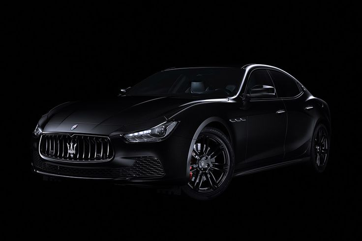 """Named after the Italian expression for """"extremely black"""", the Maserati Ghibli Nerissimo Edition is a murdered out version of the trident's smaller sedan. This exclusive package includes glossy black 20-inch wheels, black door handles, window trim, and grille, a black..."""