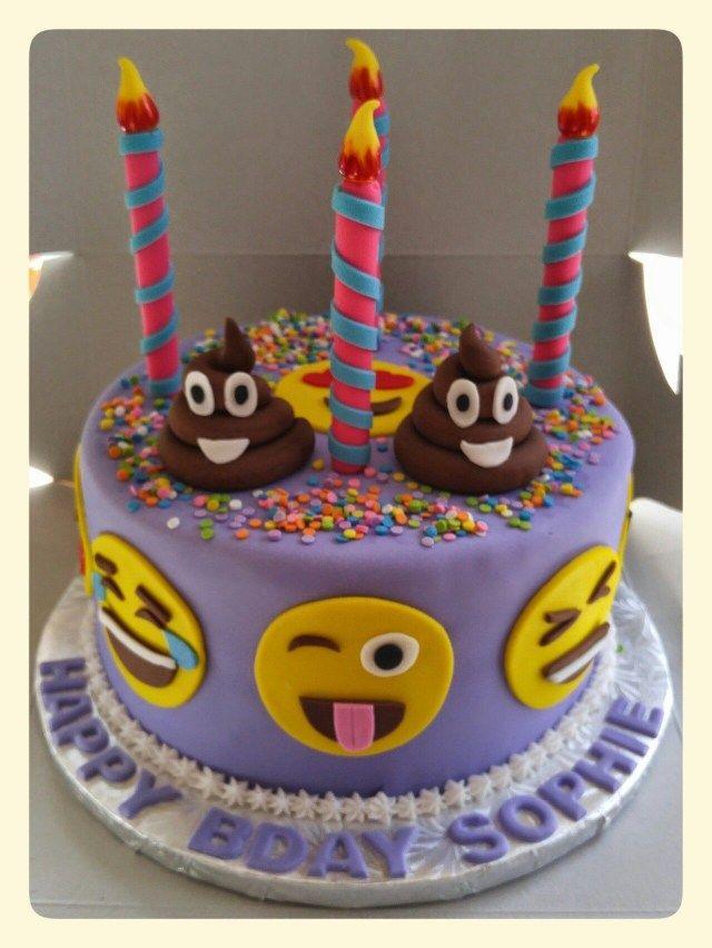 32 Exclusive Photo Of Birthday Cake Emoji Wwwfacebookfrostedflourbakedgoods BirthdayCakeDesigns