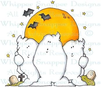 A Ghostly Night - Halloween Images - Halloween - Rubber Stamps - Shop