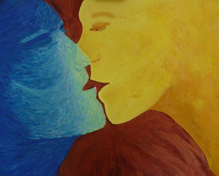 Un tableau de la personnification du sable et de la mer s'embrassant. Je propose une description du processus de création de ces tableaux.