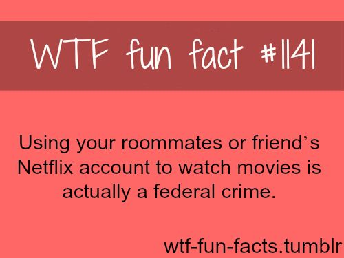 NETFLIX - LEGAL, movies facts MORE OF WTF-FUN-FACTS are coming HERE funny and weird facts ONLY ---what i call bull crime on this!! lol
