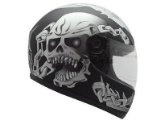 Matte Flat Black Skull Chain Full Face Motorcycle Street Sport Bike Helmet DOT (Large) - http://vintagemotorcyclehelmets.net/matte-flat-black-skull-chain-full-face-motorcycle-street-sport-bike-helmet-dot-large/