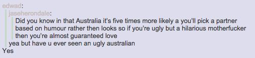 And finding love: | 47 Times Australians Totally Nailed It On Tumblr In 2014
