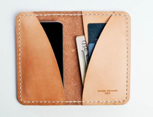 mens leather phone wallet by Kenton Sorenson #wallet #leather #carry